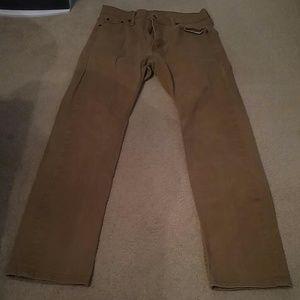 Levis 513 Tan Denim Jeans Mens Size 30x30